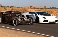 Rat Rod vs Lamborghini Aventador