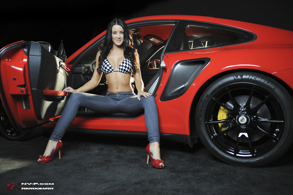 Alanna and Red Porsche 911 GT2 RS