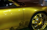 Amazing Gold Car Paint Airbrushed