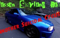 Car Meet Part 2.. Another Suicidal Cyclist & Nissan Skyline Ride
