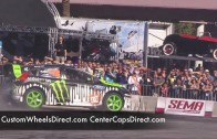 SEMA Show 2010 Gymkhana Ken Block and Vaughn Gittin Racing Monster Gymkhana Monster Ford Fiesta