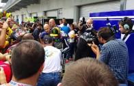 Valentino Rossi Signing at Indianapolis 2014 MOtogp paddock