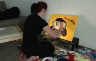 Curious George Painting Timelapse