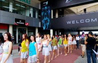 2013 Formula 1 Petronas Malaysia Grand Prix: Grid Girls at Sepang Circuit Welcome Area
