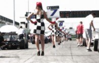 Beautiful Girls by Group Peroni Race at starting grid of race in Autodrome Misano 28 july 2013