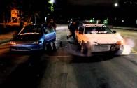Beroll Motive Turbo civic VS Mike's Turbo Civic    street racing