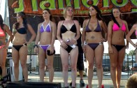 Due the bikini contest day judgment Dulovs among