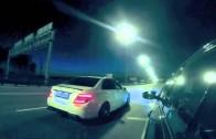 BMW M5 F10 vs Mercedes C63 Street Race