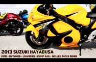 BMW S1000RR and Hayabusa's street race over 200mph – INSANE FLYBY