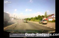 BMW vs Lada street race crash: fails on dash cam