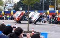 Car stunt show in Germany