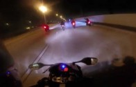 CBR1000 Motorcycle Wheelies and Street Racing