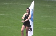 Cheerleader Sexy Grid Girls Wearing Short Black Mini Micro Short Skirts