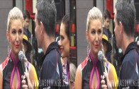 Craig Lowndes interviews Clipsal 500 Grid Girl Loren – 3D VIDEO (part interview)