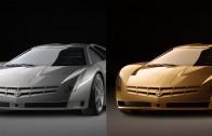 Efecto de oro en auto con photoshop