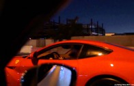 Ferrari F12 Berlinetta CRASHES into wall while racing R35 GTR Alpha 7 in Dubai