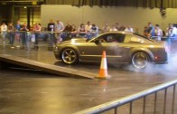 ford mustang burnout at scottish car show 2013