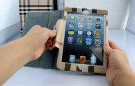 Girls Grid Checker Styled Leather Case for iPad Mini