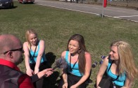Grid girl surprise interview