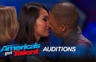 Joanna Kennedy: Nick Cannon Gets Kissing Lesson from Intimacy Expert – America's Got Talent 2015