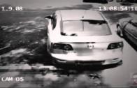 Ladrón roba un auto con 3 latas