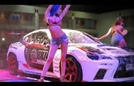 Laura Takizawa (Takizawa Rola) vs Nono Mizusawa bikini dance Sexy Car Wash