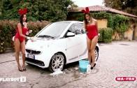 """MA-FRA e PLAYBOY: lavare l'auto con """"Mani di fata"""""""
