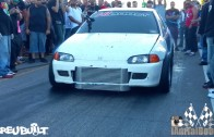 Mitsubishi Evo with bolt ons vs Turbo K20 Civic Hatch