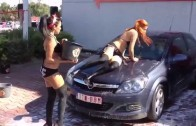 Opel and car wash with hot girls!!! #13 – Sexy and Wild  Girls dancing hot while washing car