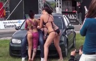 Passionate sexy girls washing cars Sexy Car Wash