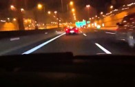 Real Street Racing BMW vs Ferrari F430 On The Way