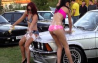 Sexy car wash 2012   Lavage d'une BMW en Croatie