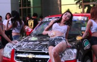 # สาวๆเอวเด้ง Sexy Car Wash งาน Truck Only Meeting Midnight Party . . [3]