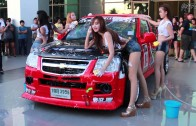 # สาวๆเอวเด้ง Sexy Car Wash งาน Truck Only Meeting Midnight Party . .