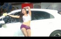 Sexy Car Wash with Baby Margaretha
