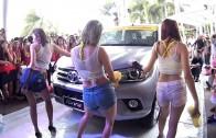 Sexy Car wash เฟรม แอ้ม ผ้าแพร