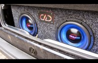 Special Effects RGB Lights DD audio subwoofer 10″ bass in car trunk day and night effect