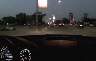 Street Race Mercedes C63 vs Nissan GTR
