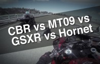 STREET RACE Part1…(CBR600rr vs MT09 vs GSXR-6 vs HORNET)