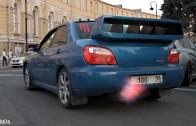 STREET RACE WRX STI SHOOTING FLAMES, INCREDIBLE SOUNDS!!! 1080HD