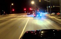 Street Racers Run From Cops (Go Pro Footage)