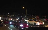 Street Racers Shut Down Portland Freeway for Burnouts