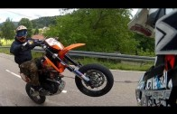 Streetrace KTM 690 vs Suzuki 400 + Crash