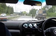 Subaru Legacy street race in traffic ! CRAZY