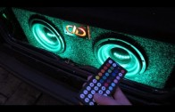 Subwoofer Night Bass Car Sound System Effect RGB LED Lights DEMO 2 10″ Subwoofers