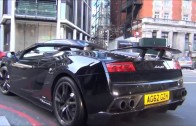 Supercars in the city- Khan 'F1' Veyron, Green GT3 RS Slide!