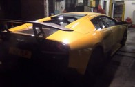 Tuned Lamborghini Murcielago LP640 SV Kit and Larini Exhaust cold start sounds!