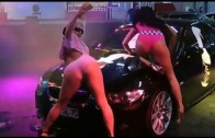 Tuning a car and show girls