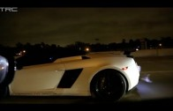 TX2K14 – INSANE 1800hp Gallardo races Alpha 16 GTR on the street