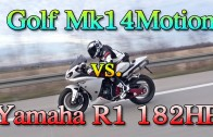Vw Golf Mk1 1056HP vs Yamaha R1 182HP street race teaser